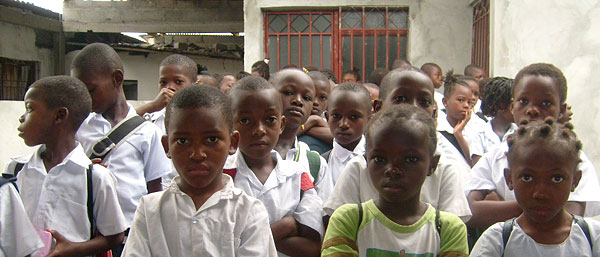 Sunday School students attending Fifth Church of Christ, Scientist, Kinshasa, in the Democratic Republic of Congo