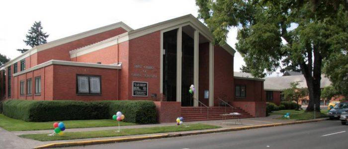 exterior photo of First Church of Christ, Scientist, Eugene, Oregon